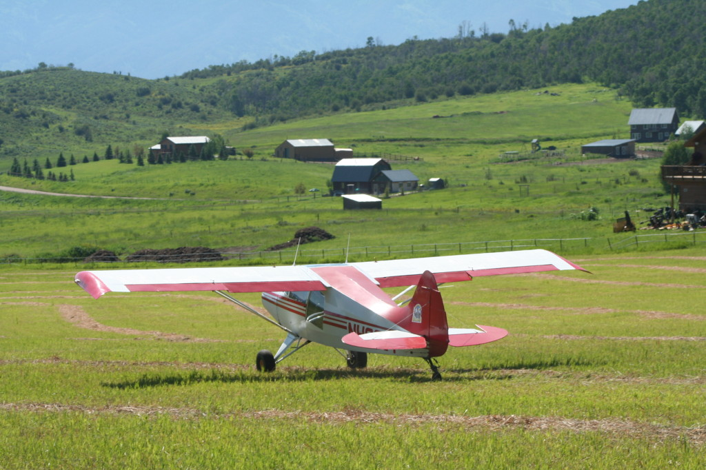 Grass Strip takeoff